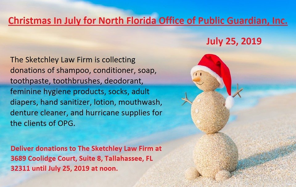 2019 Christmas in July @ North Florida Office of Public Guardian